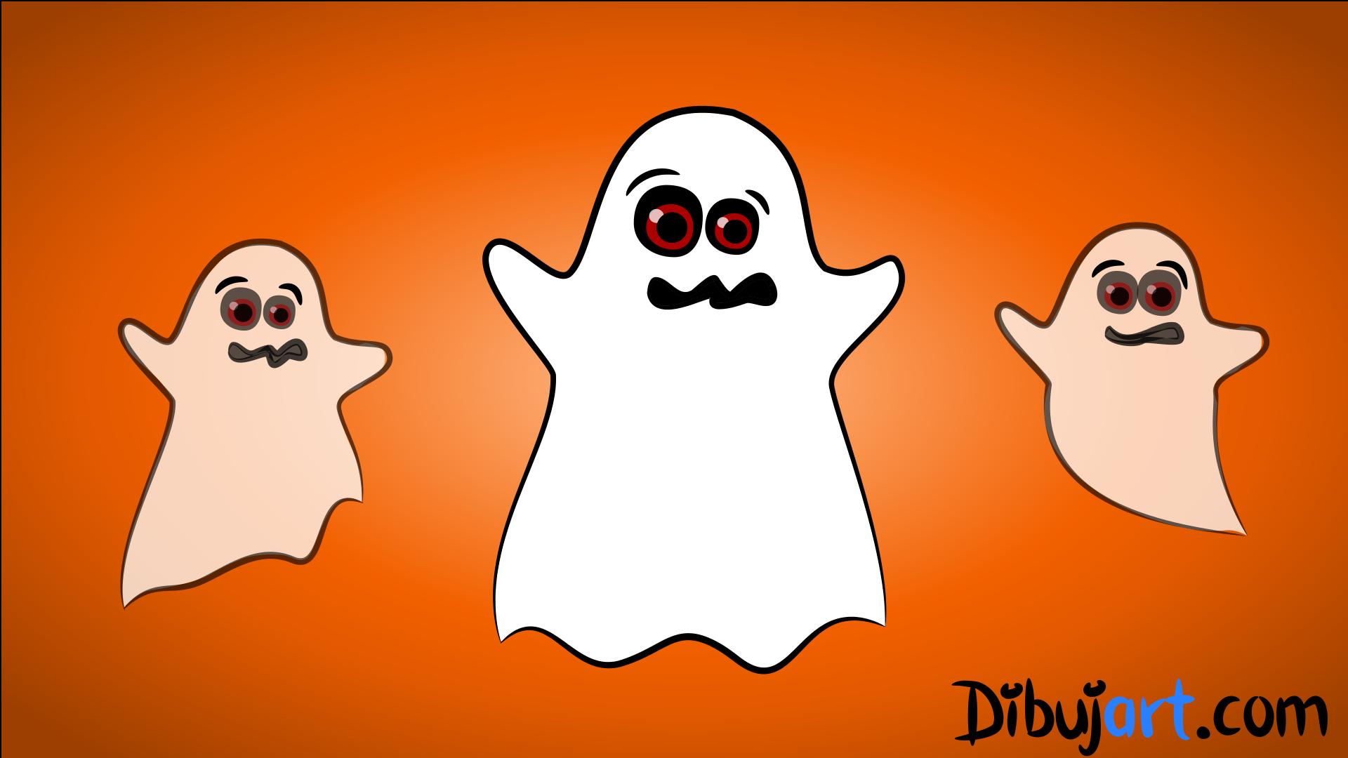Bosquejo o Sketch del Fantasma para para descargar y colorear