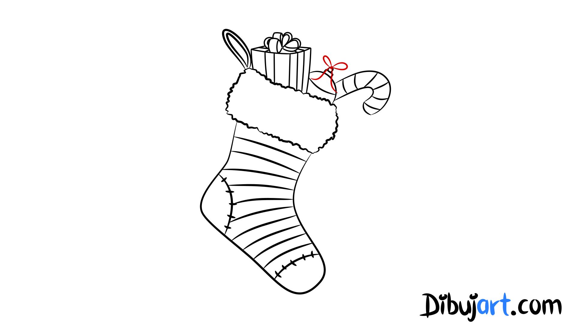Cómo dibujar unas Botas de Navidad paso a paso | dibujart.com
