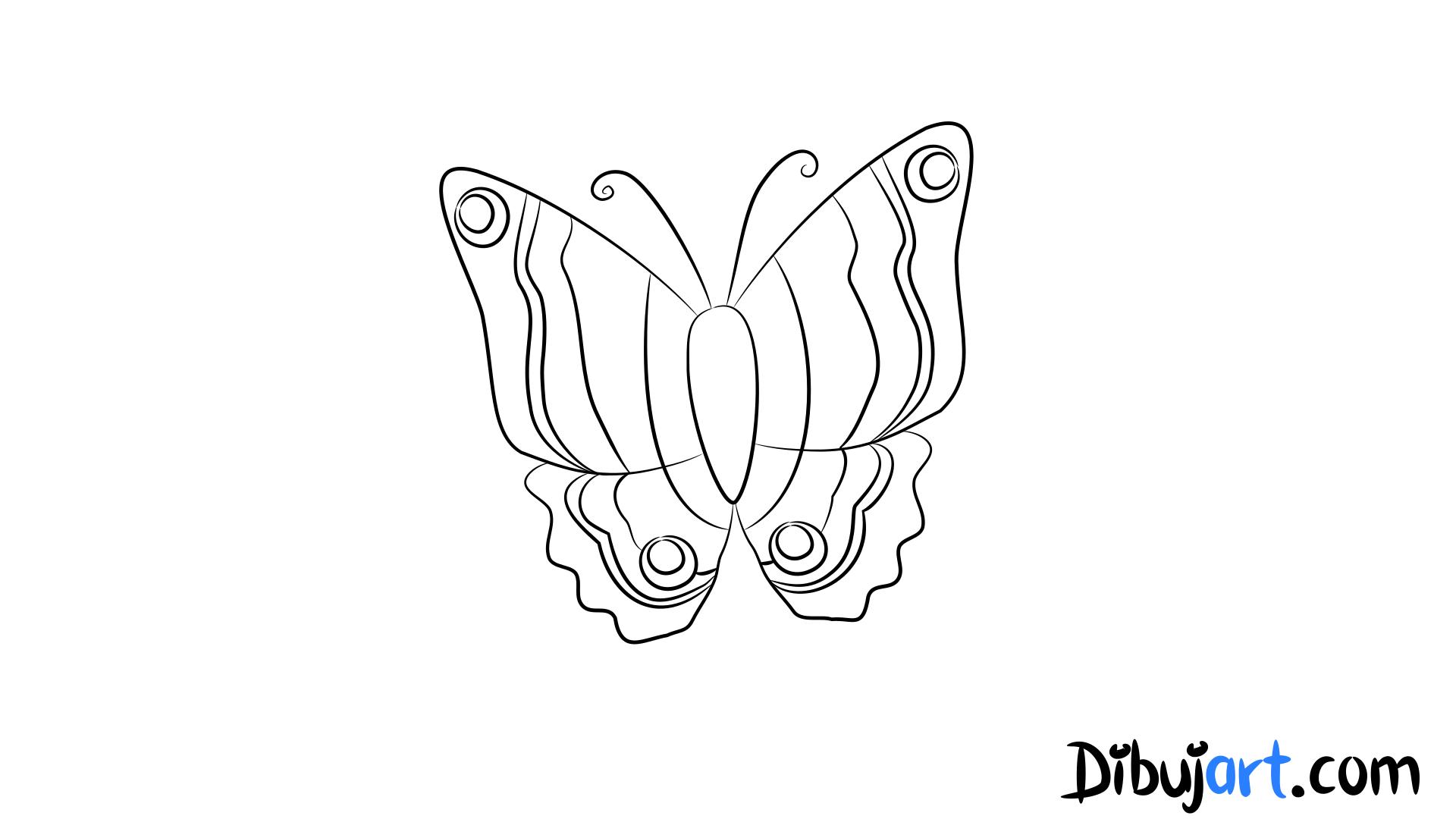 cómo dibujar una mariposa paso a paso  dibujart