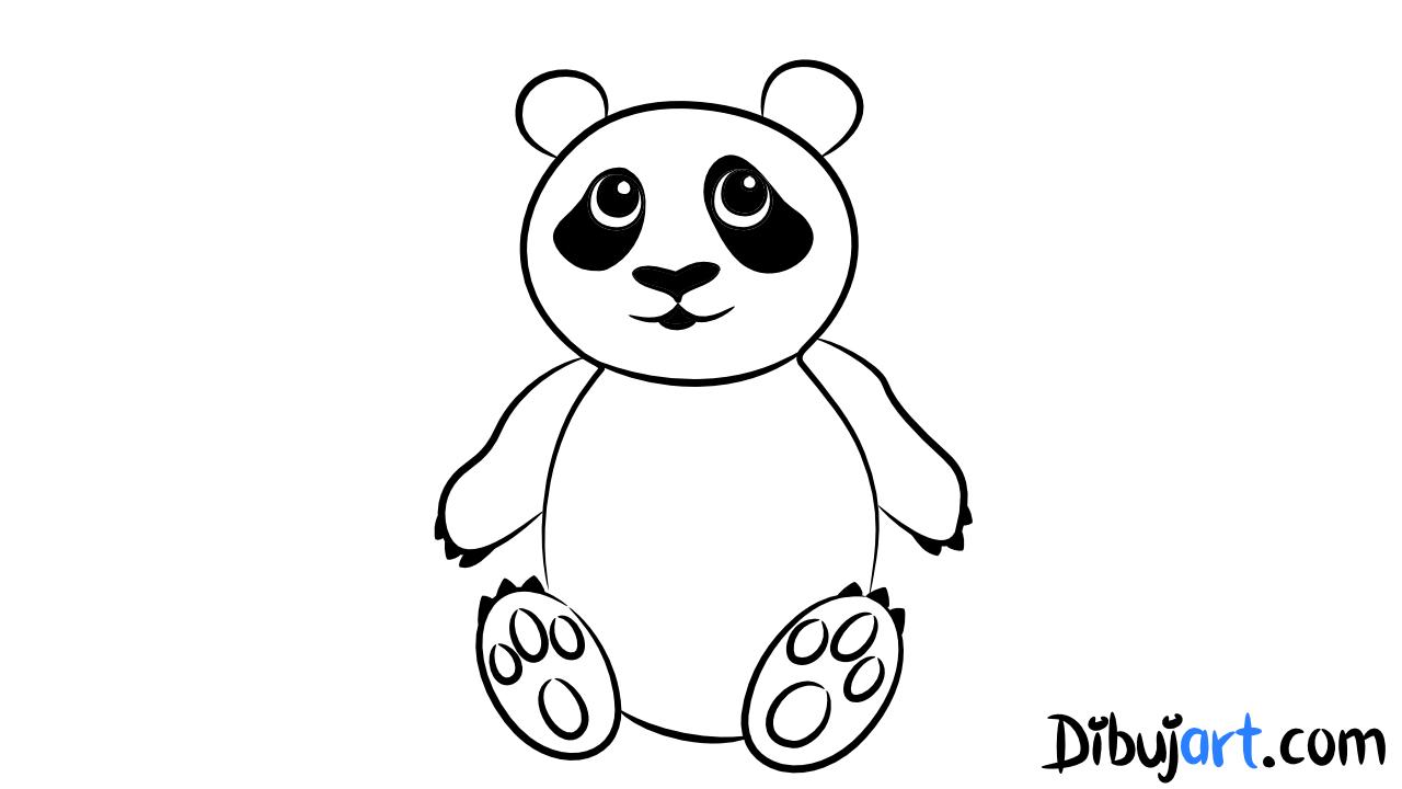 Cmo dibujar un oso Panda paso a paso  dibujartcom