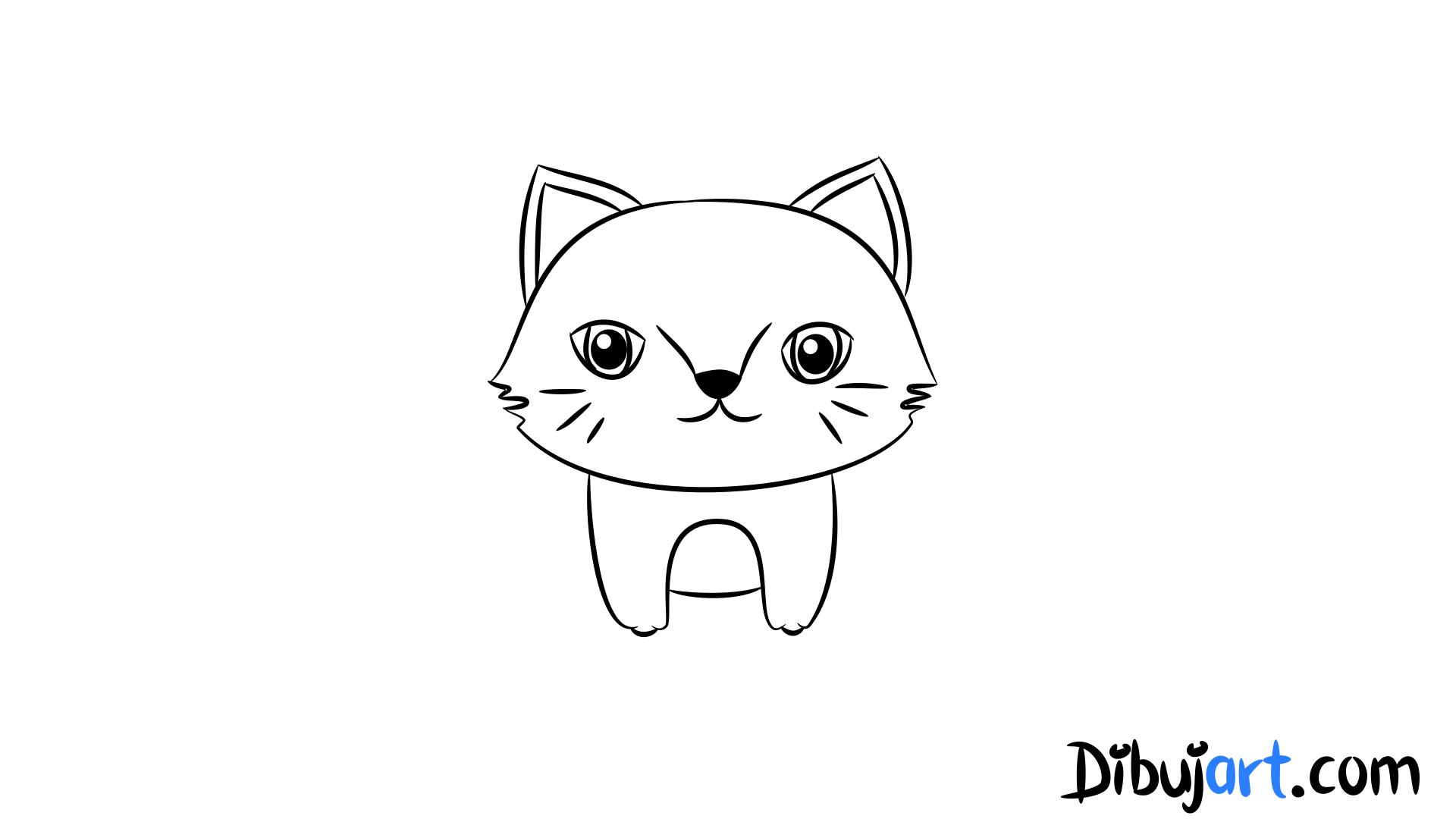 Cómo Dibujar Una Gato Salvaje Bebé Paso A Paso 5 Serie De