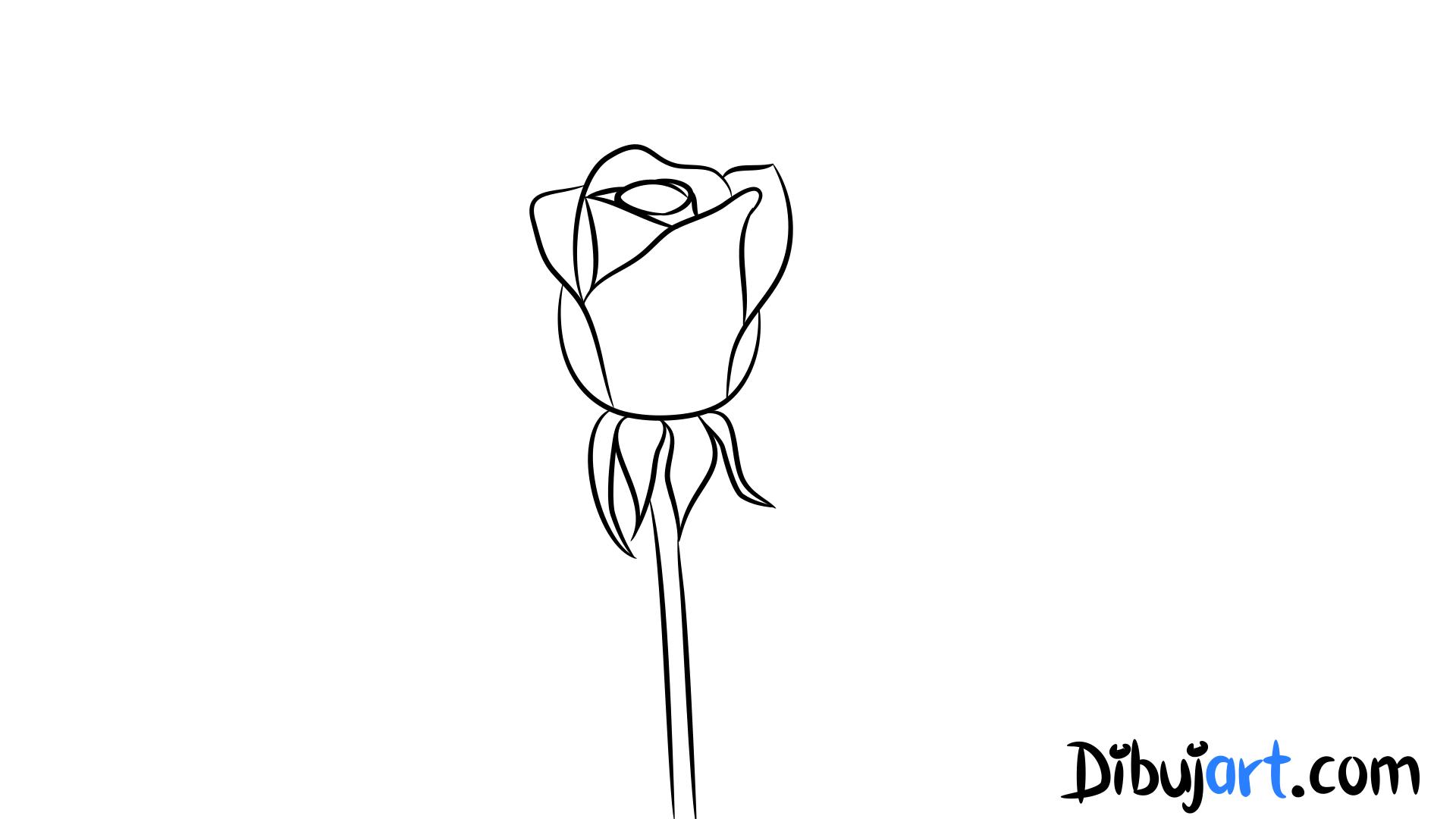 Dibujar Rosas. Trendy Corazn Y Rosas Dibujo Para Colorear