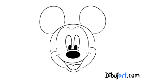 Sketch o bosquejo de una Mickey Mouse para colorear