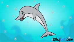 Imagen clipart de un delfin