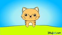 Imagen clipart del gato bebé de la selva