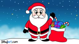 Imagen clipart de Papa Noel