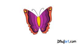 Como dibujar una mariposa (clipart)